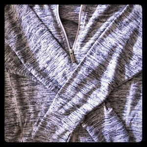 Athleta gray roomy cinched hoodie size L
